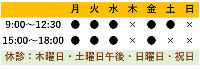 相模原町田橋本診療時間表j